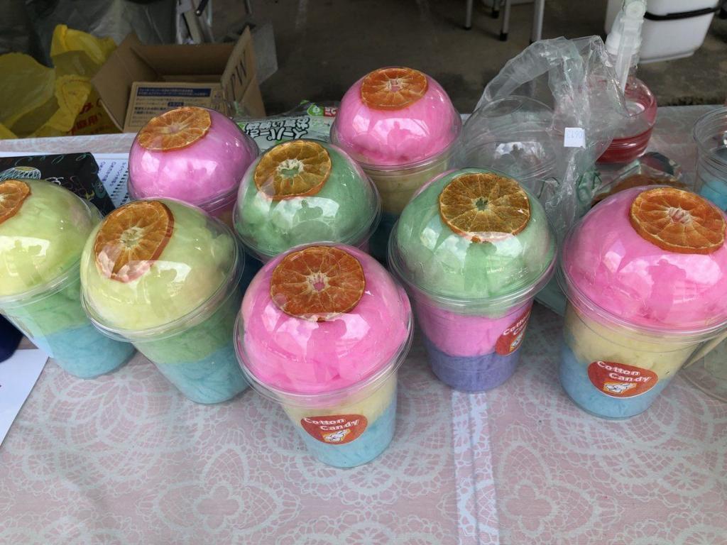 カップ綿菓子